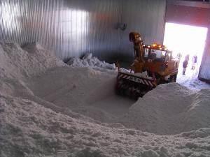 雪室の内部 3,000トンの雪が!!